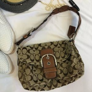 Coach Shoulder Bag Signature G0817 Brown purse